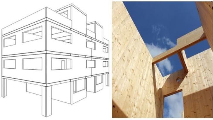 Système de construction - panneaux de bois massif lamellé croisé